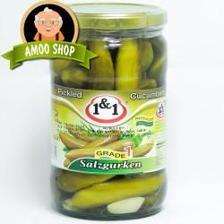 Pickled cucumbers 1&1 - 750 & 1500 gr